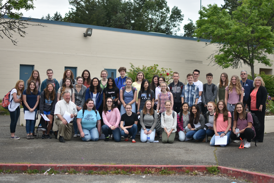 Members of INTERACT Club pose together for a group photo.