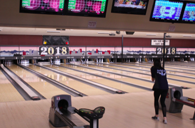 Maddie Mae Malich preparing to bowl a strike. *Photo taken by Jordan Dowd.