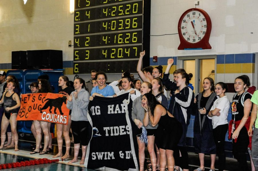 The+lady+Tides+Swim+and+Dive+repeat+as+district+champions.++Photo+credit%3A+Coach+Kelly.