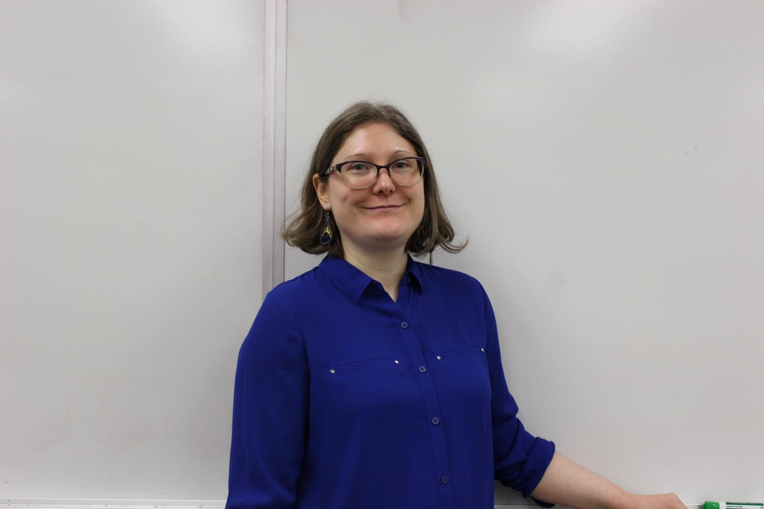 Madame Snider is the adult adviser for French Club, and is the only French teacher at GHHS. Photo taken by Anna Schumaker