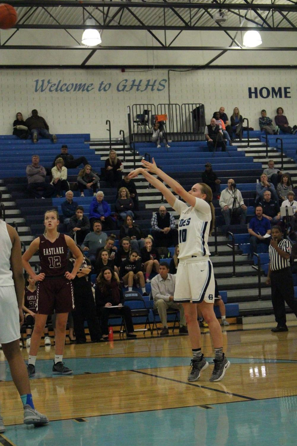 Girls Basketball star senior Brynna Maxewell shoots a freethrow from the line. Photo taken by Tatum Benson