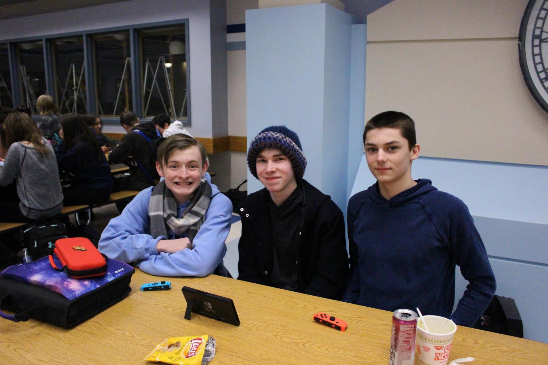 From left to right: Madigan McGinn (10), Benjamin Nussbaum (10), and Joesph Boynton (10). Photo taken by Anna Schumaker.